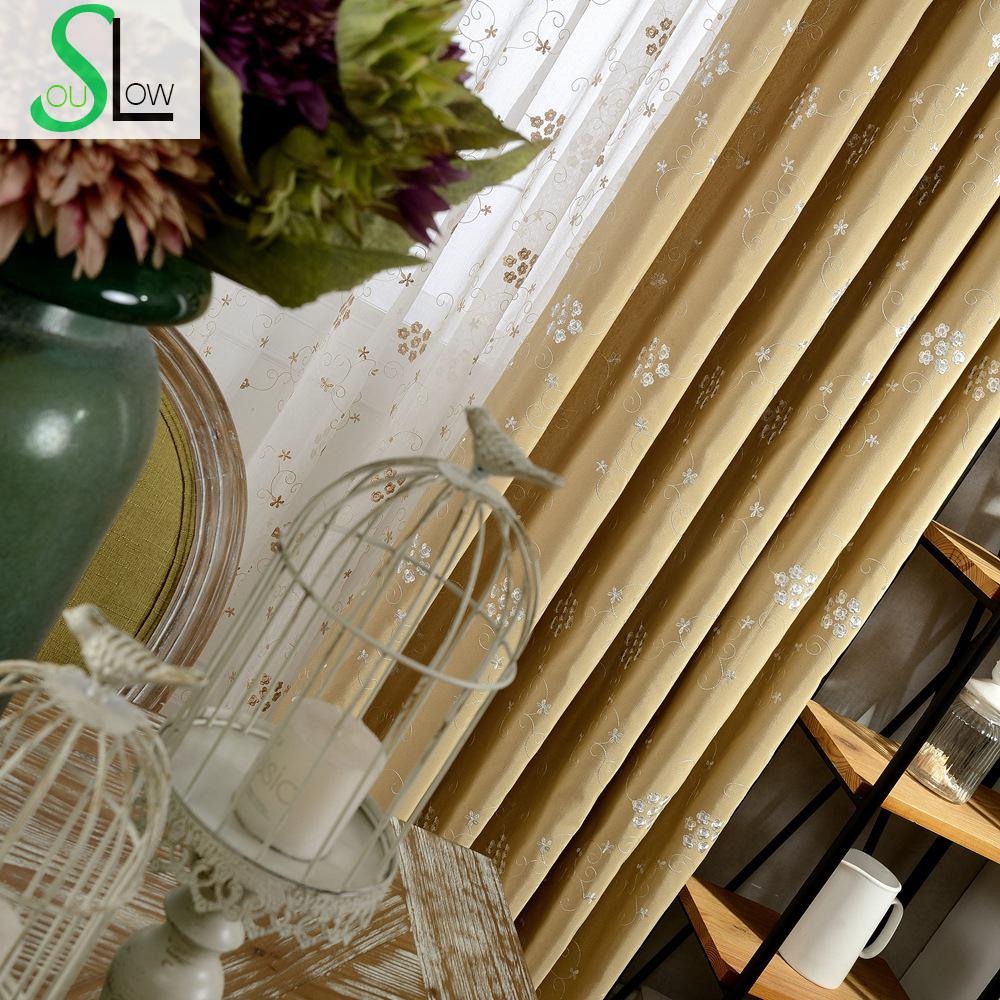 Plum Blossom Embroidered Curtain With Pastoral Style Korean Lace Modern Living Room Curtains For Bedroom Sheer Luxury And Tulle(China (Mainland))