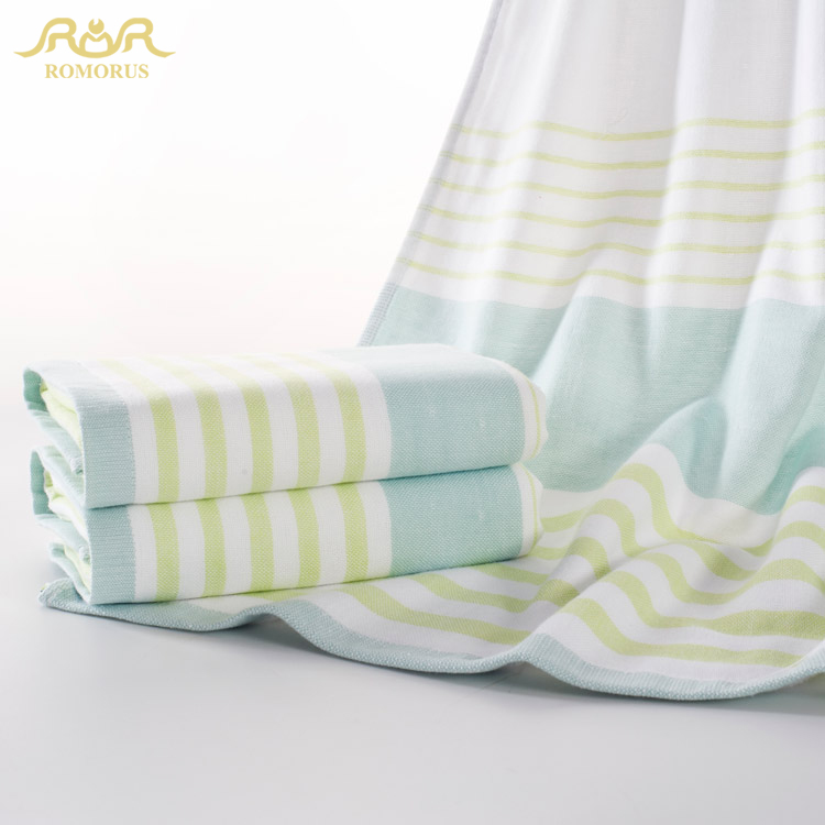 ROMORUS 3pcs 100% Cotton Large Beach Towel for Adults Plaid Towels Set 2pcs 34*75CM 1pc 70*140cm Hand Face Towels RMR271220(China (Mainland))