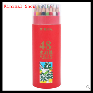 [Kinimal Shop] 48  colors Creative stationery / Student activities /Learning activities/ drawing / Art /   water color pencils