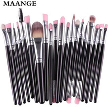 Buy MAANGE Famous Brand Professional 20 Pcs makeup brushes sets Eyeshadow makeup Cosmetics eyebrow foundation cleaning hair brush for $4.22 in AliExpress store
