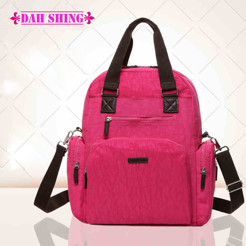 5 solid colors Multiple bearing Quality waterproof nylon Baby bag Diaper Backpack Nappy Mother's backpacks bolsa maternidade - Dah Shing Fashion Co., Ltd. store