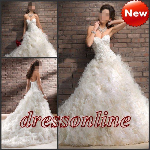 Brand new expensive tulle skirt big ball gown wedding for Expensive wedding dress brands