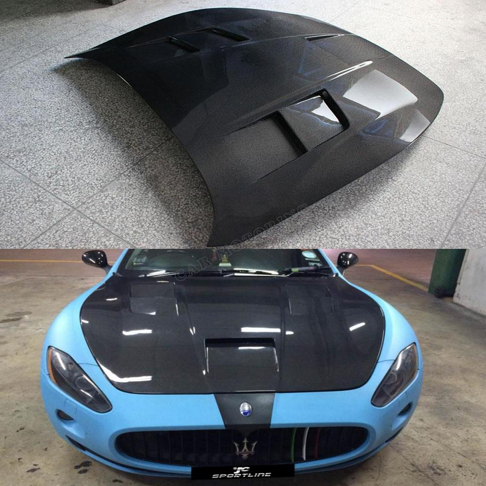 Carbon Fiber GT Style auto engine hood car bonnet For Maserati GT (Fit Maserati GT ONly )(China (Mainland))