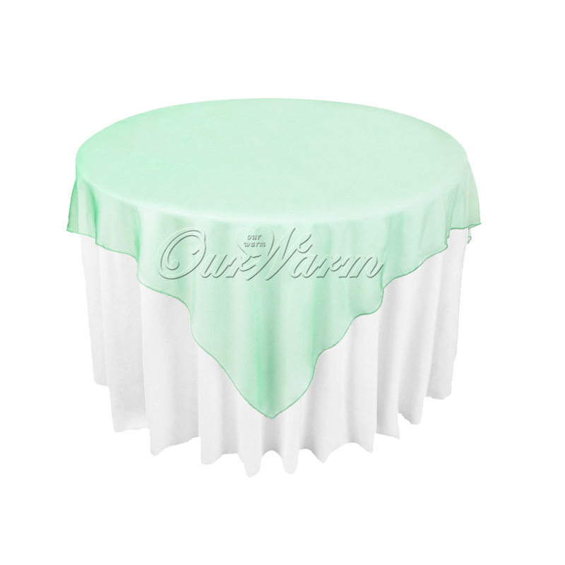 """10Pcs/lot Many Colors 72"""" Square Organza Table Overlay Table Cover Cloth for Wedding Banquet Party Supply(China (Mainland))"""