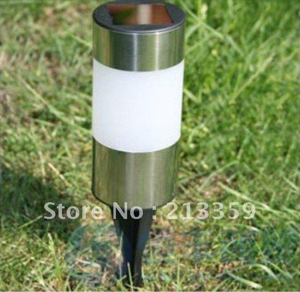 Free Shipping for Solar Powered LED Light Stainless Steel Round Garden Landscape Lawn Lamp Wholesale and Retail Hot!