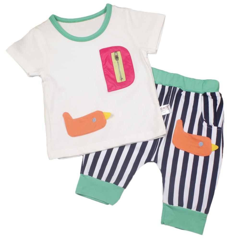 2016 new arrival summer baby kids children unisex boys girl short T shirt pants set sports soft clothing set fashion clothing(China (Mainland))