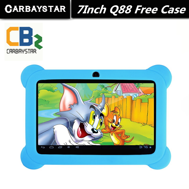 "Free Gift Soft Silicone Case 7"" Tablet PC Android 4.42 Google A33 Quad Core 8GB WiFi Dual Camera 7 Inch Q8 Q88 Tablets PC(China (Mainland))"