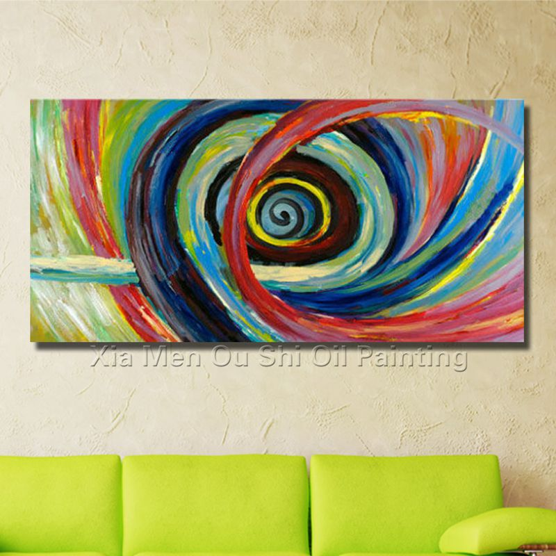 Handmade Oil Paintings Abstract Painting on The Canvas Circle Abstract Painting the Sitting Room is Free Shipping Wall Pictures(China (Mainland))