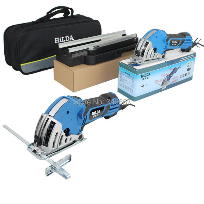electric mini circular saw 750W mini power saw power tools for wood mini power tools with 8 pcs accessores for machine(China (Mainland))