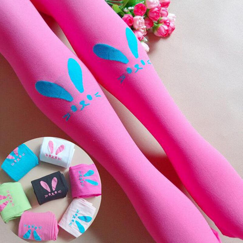 Spring bunny girls bottoming tights children pantyhose white stockings dance socks candy color velvet baby<br><br>Aliexpress