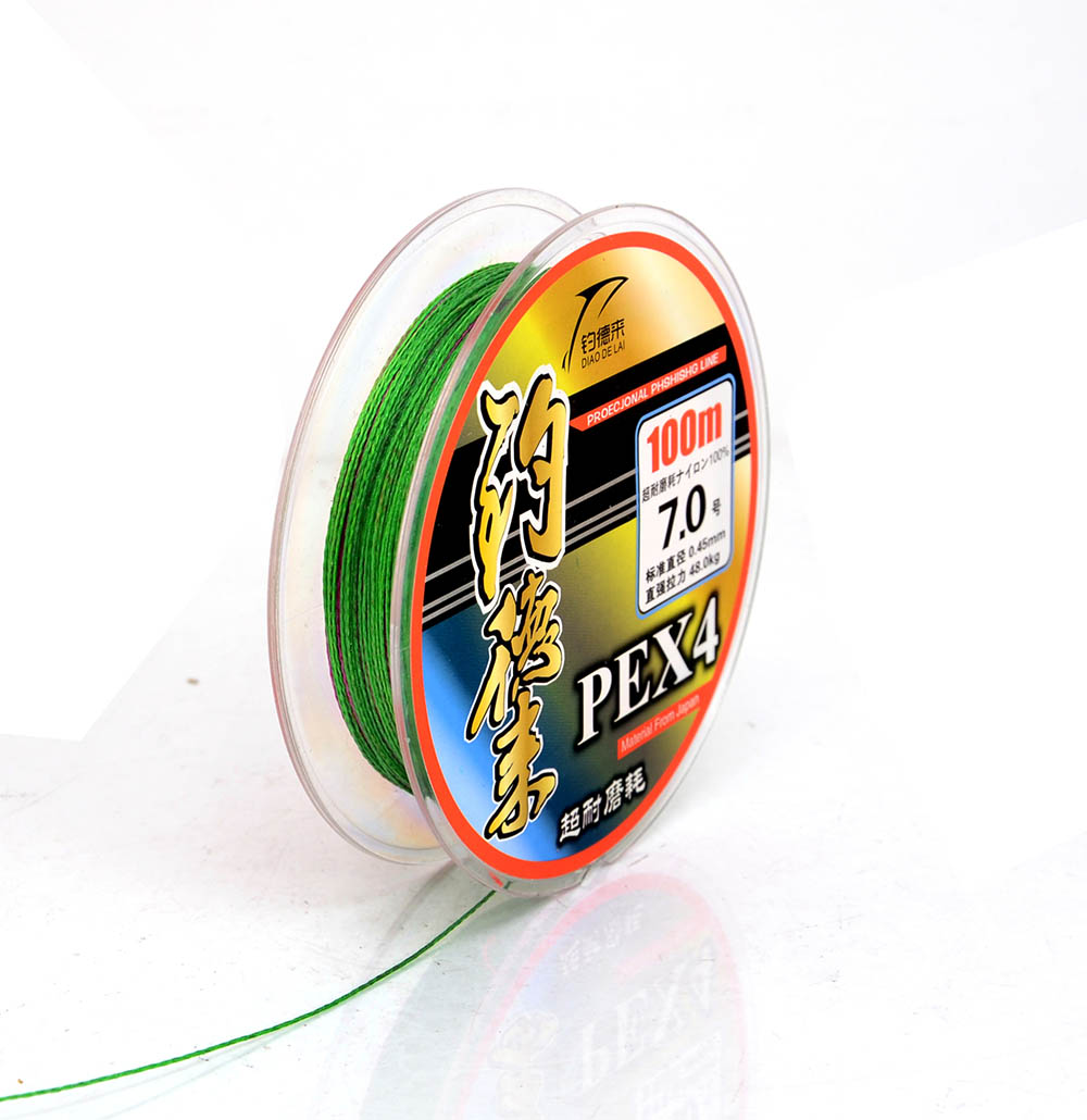 Super Strong Japanese 100m Multifilament PE Material Braided Fishing Line 90 105LB Multicolor #6.0-#7.0(China (Mainland))