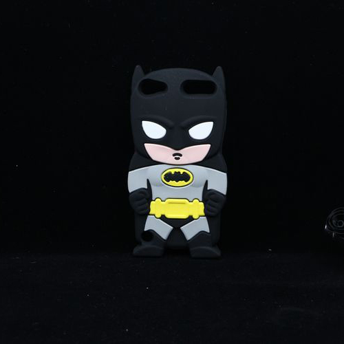 For Apple iPod Touch 5 Touch 4 Batman Case Cute Cartoon Soft Silicone Back Cover(China (Mainland))