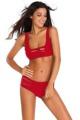 Women Two Piece Strappy Cutout Bikini Sets 2016 Summer New Lady Black Red Low Waist Swimwear