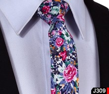 "Floral Check 2.17"" 100% Cotton Wedding Jacquard Slim Skinny Narrow Woven Men Tie Necktie J3(China (Mainland))"