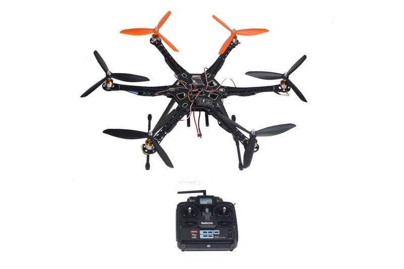 DIY Drone Quadcopter Upgraded Full Kit HMF S550 9045 3-Propeller 6-Axis 6ch RC Hexaopter RTF/ARF No Batter / Charger F08618-E <br><br>Aliexpress