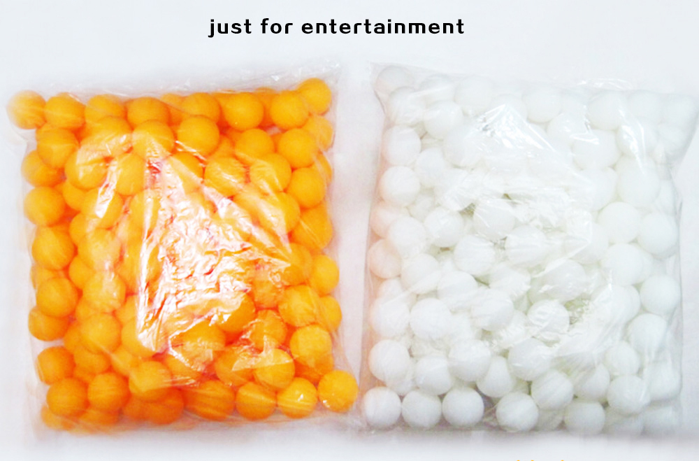 50 Pieces/A Bag Table Tennis Balls PingPong Balls Orange White For Lucky Draw(China (Mainland))