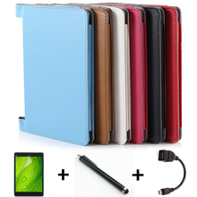 Luxury fashion PU leather case For lenovo yoga tablet 2 10.1 1050f 1050 1051 1051f tablet cover case + Screen protectors+OTG+pen