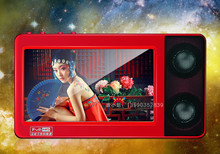 "New HD Touch Screen MP4 Player 8GB 4.3"" With Two Speakers TV Out Movie Radio Games MP4 MP5 Player Mini Music Sport Video Player(China (Mainland))"
