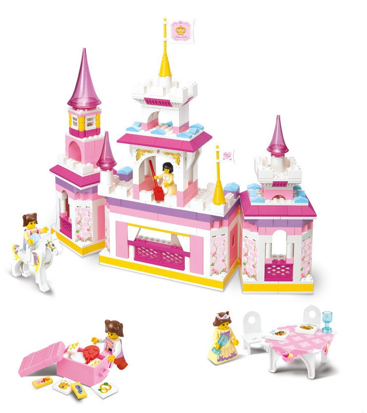 Sluban Pink Dream Learning education  Princes Series Castle Kids Gift Building Block Set Girl Brick Toy Set Compatible With Lego<br><br>Aliexpress