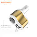 Multi function 3 1A Dual USB Car Charger for Mobile Phones Tablet PC DC 12 24V