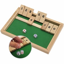 Classic Shut The Box Wooden Board Game Dice Pub Family Kids Toy Christmas Gift Educational Toys Best Gift For Children Kids(China (Mainland))