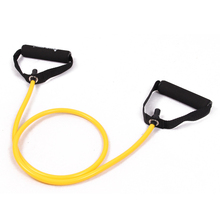 Buy resistance stretch band tube yoga pilates fitness muscle exercise workout yellow wholesale free kylin sport for $4.48 in AliExpress store