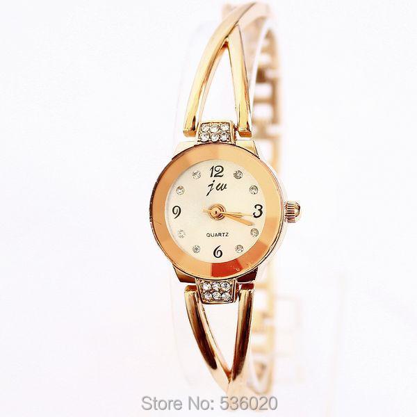 Arrived Fashion Ladies Dress Bracelet Watch Women Rhinestone Alloy Wristwatch Quartz watch relogios masculinos 2015 - ShenZhen OKE Trade Co.,LTD store