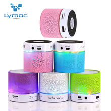 Hot Lymoc LED MINI Bluetooth Speaker BS008 Wireless Portable Music Speaker Sound Box Subwoofer TF USB Loudspeakers For phone PC(China (Mainland))