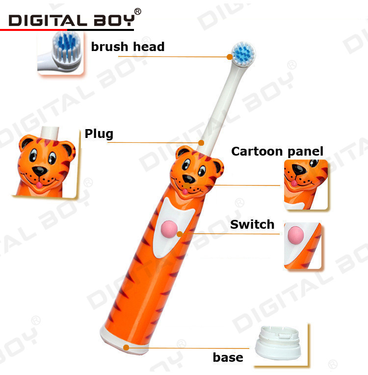 New Hot!! Cartoon Children Tooth Brush Electric Toothbrush Baby Electric Massage Ultrasonic Toothbrush Teeth Care Oral Hygiene(China (Mainland))