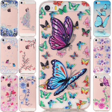 Cell Phone Cases Apple iPhone 5S Case 5 SE 6S 6 Plus Transparent Ultra Thin Soft TPU Back Cute Luxury Fashion Pink Flower 62 - China Electron Market store