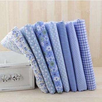 50 см * 150 см Синий 100% Хлопчатобумажная Ткань для Шитья Тильда Ткань для Лоскутное DIY Ремесло Материалы Швейные Telas куклы Ткани