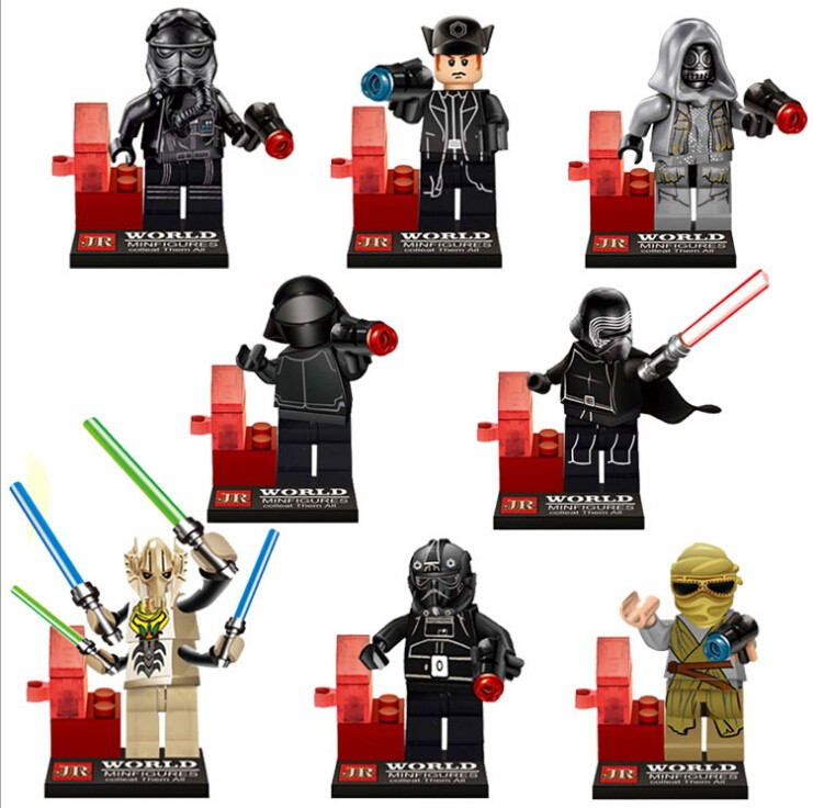 star Wars 7 Minifigures brick The Force Awakens Building Block Set Models Figure Toys For Children 480pcs/lot<br><br>Aliexpress