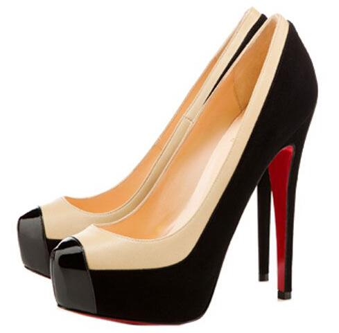 新しいスタイルのファッション赤の底ひょんの孫2トーン160mmプラットフォームパンプスハイヒールの結婚式花嫁の服の女性35,42女性の女性の靴