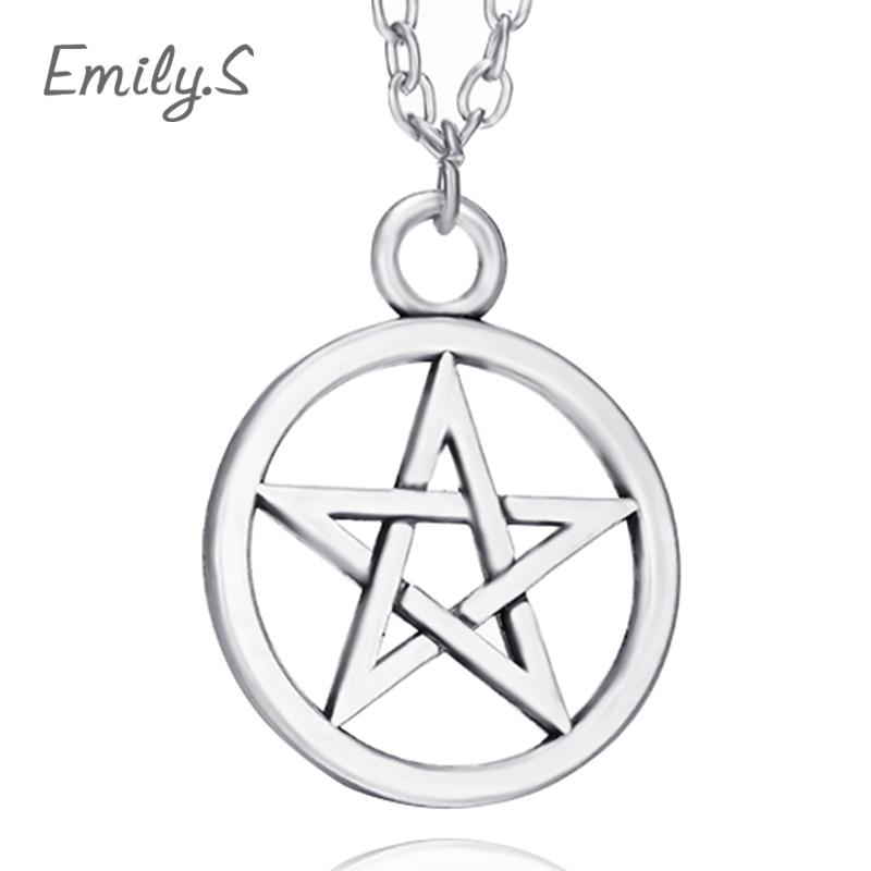 2016 Hot Fashion Metal Unisex jewelry Pentagram Supernatural star statement Pendant Necklace statement trendy necklace 104(China (Mainland))