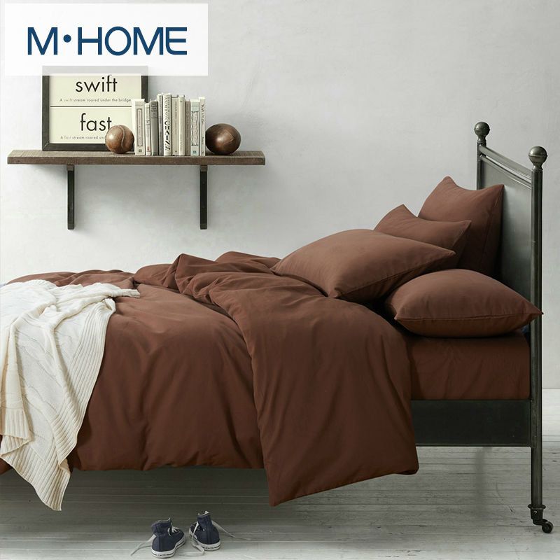 100% cotton 4pcs Luxury Bedding Set Solid Color Duvet Cover Queen Bed Comforter Sets Bed Covers winter upset warm 4pcs A single(China (Mainland))