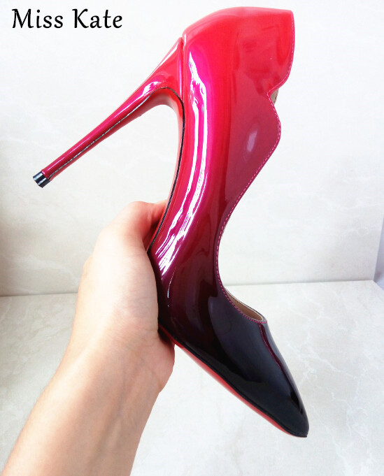 Red Bottom High Heels Women Shoes Pumps Stiletto 12cm Heels Red/Black Patent Leather Red Sole Shoes Woman Bridal Shoes M-0007<br><br>Aliexpress