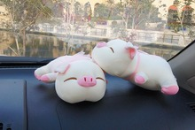 Free Shipping Cute Pig Car Air Freshener Purifier Active Carbon Bamboo Charcoal Package Bag Toy(China (Mainland))