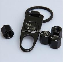 2014 New Car Wheel Airtight Tyre Tire Stem Air Valve Caps 4 Pcs/set Fit for Jaguar Black Free Shipping(China (Mainland))