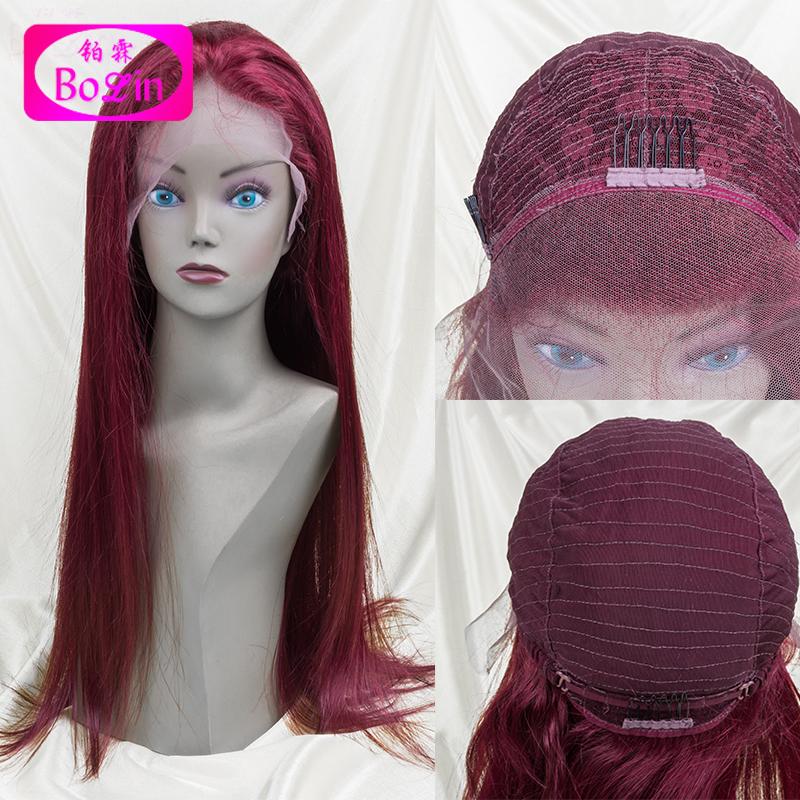 Hot Selling 99j lace front wig virgin unprocessed hair wig full lace wig red human hair virgin peruvian hair(China (Mainland))