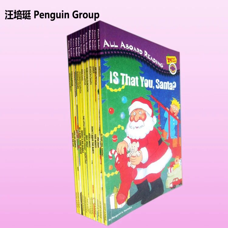 Free shipping i can read penguin group english words book for children 12pcs per lot(China (Mainland))