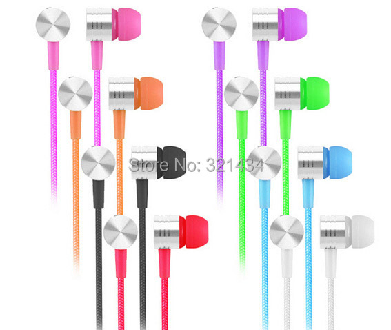 3.5mm Stereo Bass in-ear headset earphone Headphone With Mic for mobile iphone 4 5 6 Samsung HTC Xiaomi iPod MP3 MP4 laptop E4(China (Mainland))