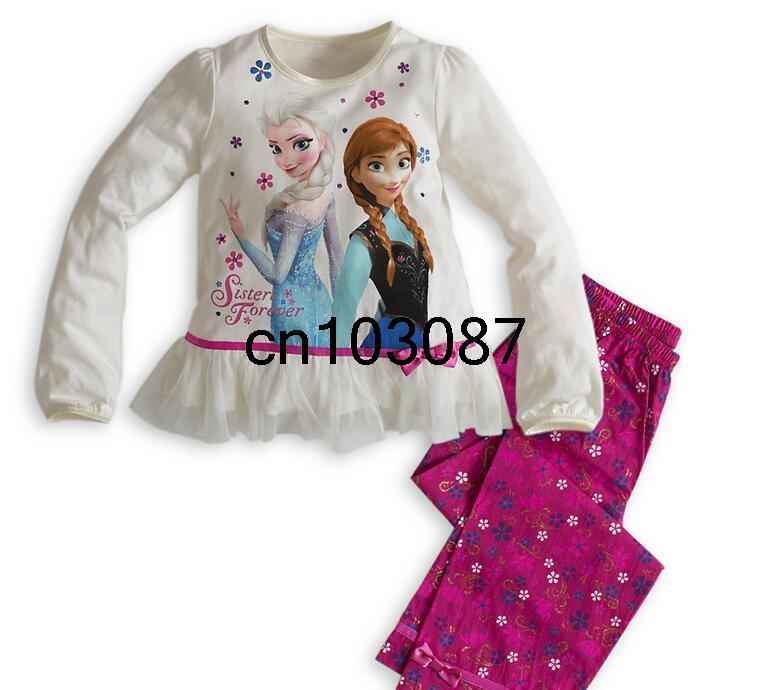 Гаджет  Queen snow girls cotton pyjama set infant girl snow queen Anna Elsa sleepwear kids girl long sleeve night gown child home wear None Детские товары