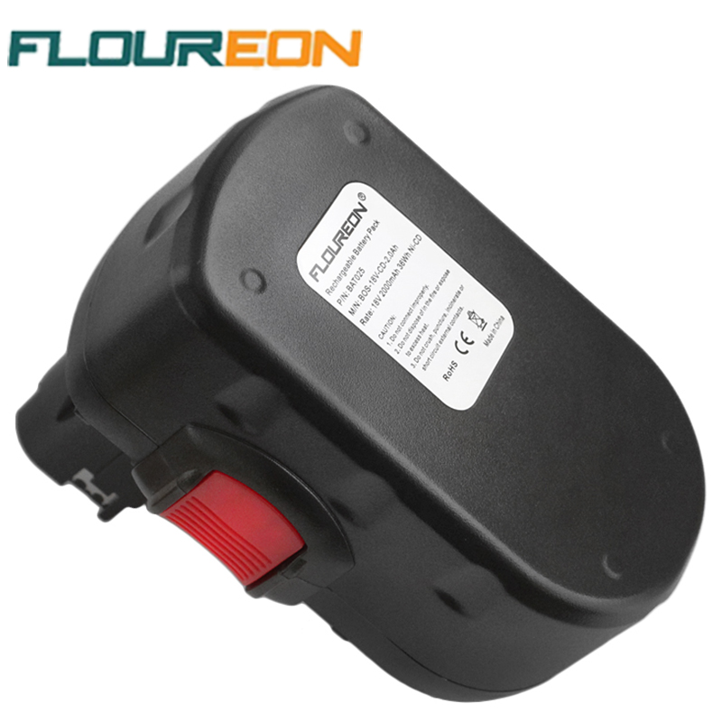 FLOUREON BAT025 18V 2000mAh Rechargeable Battery Packs Power Tools Battery Replacement Cordless Drill for Bosch 335 536 Ni-CD(China (Mainland))