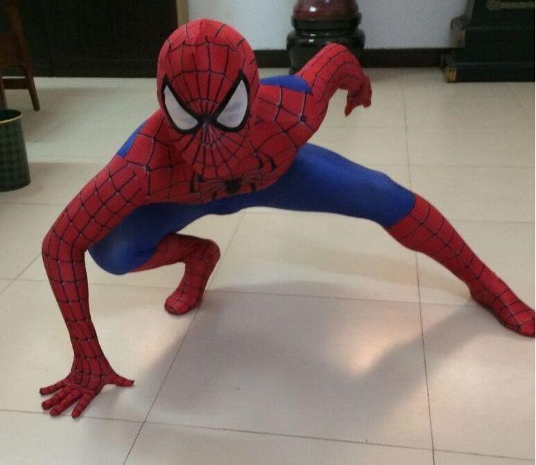 2016 New 3D Spiderman Halloween Costumes for Kids Children Superhero Spider-man Cosplay Costume Lycra Fullbody Zentai Suit(China (Mainland))