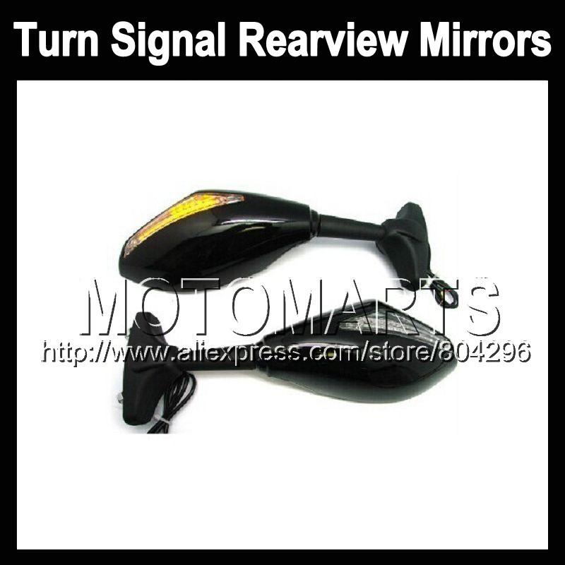 2X Black Turn Signal Mirrors Triumph Daytona 650 03-05 Daytona650 Daytona-650 03 04 05 2003 2004 2005 Rearview Side Mirror - Motomarts store
