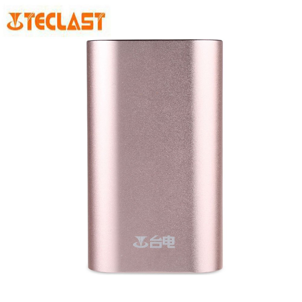 Hot Selling External Battery Pack Original Teclast T100R - R 10000mAh Dual USB Ports Aluminum Alloy Skin TOPS Mobile Power Bank(China (Mainland))