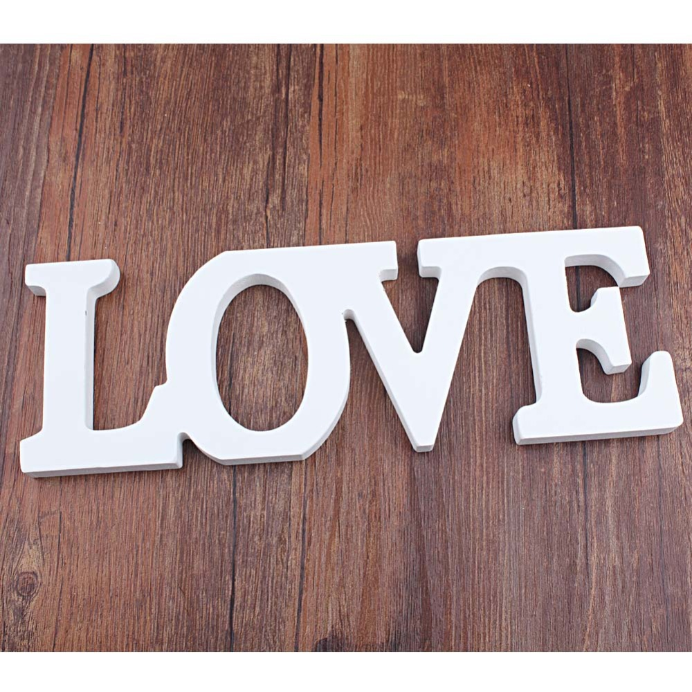 Wooden Standing Love Letters Sign Plaque Decoration Gift Wedding Decoration Letters Love Sign Casamento(China (Mainland))