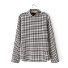 Blusas Femininas 2016 New Fashion Women's Spring Winter Cotton Long Sleeve White Black Geometric Shirt Elegant Brand Casual Tops(China (Mainland))