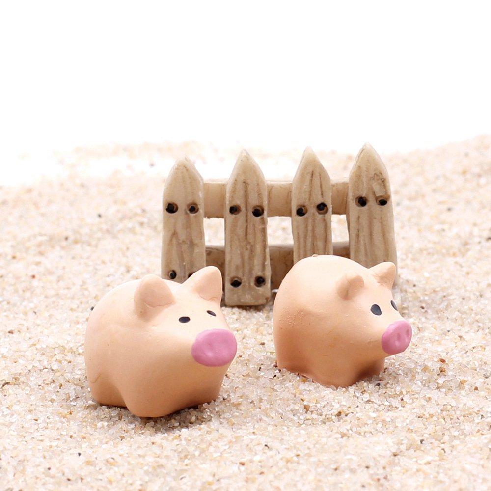 Mode mignon de porc clôtures ensemble modèle jouets jardin décoration Bonsai paysage ornements accessoires de résine artificielle(China (Mainland))