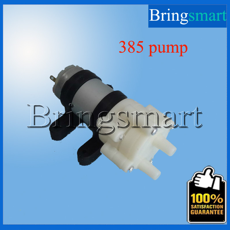 Bringsmart 385 Pumps+Fixed Sets+12V Power Supply+DC Wire 385 DC Diaphragm Fish Tank Pump 6-12v Electric Stove Water Pump(China (Mainland))